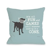 One Bella Casa Doggy D cor Its All Fun and Games Throw Pillow