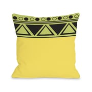 One Bella Casa Aziz Aztec Top Triangles Throw Pillow