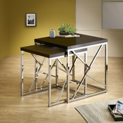 Wildon Home   2 Piece Nesting Table Set; Black
