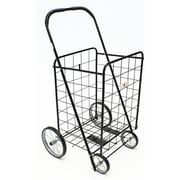 ATH Home Large Shopping Cart with Metal Frame Wheels; Black