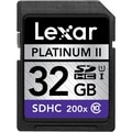 Lexar™ Platinum II 200x 32GB SDHC (Secure Digital High Capacity) Class 10/UHS-I Flash Memory Card