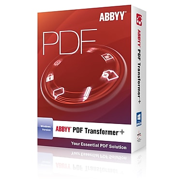 ABBYY USA SOFTWARE HOUSE INC PDF Transformer PDFTFW4XB Plus Box Version 1 Licenses