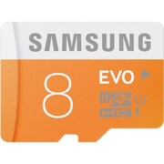 Samsung EVO 8GB microSDHC (micro Secure Digital High Capacity) Class 10/UHS-I Flash Memory Card