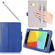 i-Blason Slim Book Leather Case For LG G PAD 8 Tablet, Blue