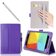 i-Blason Slim Book Leather Case For LG G PAD 8 Tablet, Purple