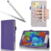 "i-Blason GTABS8.4-1F-PUR Synthetic Leather Folio Case for 8.4"" Samsung Galaxy Tab S, Purple"