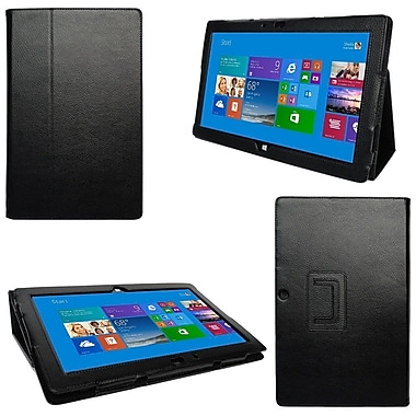 i-Blason SURFACE3-1F-BLK Slim Book Synthetic Leather Folio Case for 12