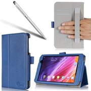 i-Blason Slim Book Leather Cases For Asus MeMo Pad 7 Tablet ME176C, Blue