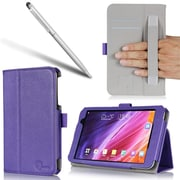 i-Blason Slim Book Leather Cases For Asus MeMo Pad 7 Tablet ME176C, Purple