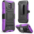 i-Blason Prime Series Dual Layer Holster Case With Kick Stand For Samsung Galaxy S5 Active, Purple