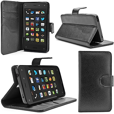 i-Blason Slim Leather Folio Wallet Case For Amazon Fire Phone, Black