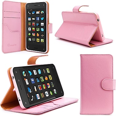 i-Blason Slim Leather Folio Wallet Case For Amazon Fire Phone, Pink
