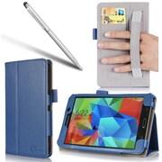 """i-Blason GTAB4-7-1F-BLUE Synthetic Leather Slim Book Case for 7"""" Samsung Galaxy Tab 4, Blue"""