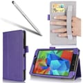 i-Blason Leather Slim Book Case For Samsung Galaxy Tab 4 7in. Tablet, Purple
