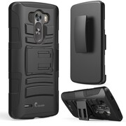i-Blason Prime Dual Layer Holster Case With Kick Stand For LG G3, Black