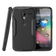 SUPCase Unicorn Beetle Hybrid Case For Motorola Moto X Phone, Black/Black
