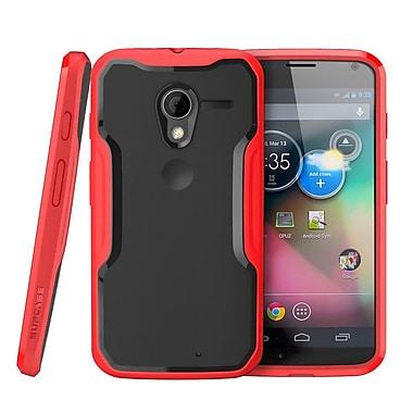 SUPCase Unicorn Beetle Hybrid Case For Motorola Moto X Phone, Black/Red
