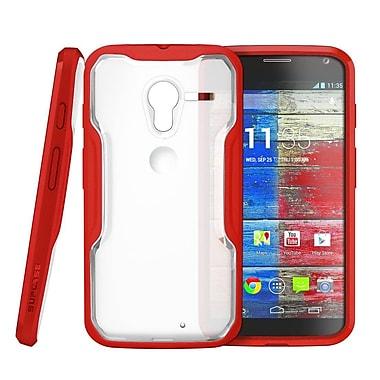 SUPCase Unicorn Beetle Hybrid Case For Motorola Moto X Phone, Clear/Red