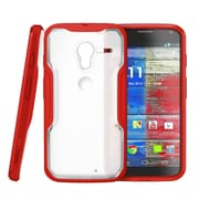 SUPCase Unicorn Beetle Hybrid Case For Motorola Moto X Phone, Clear/Red