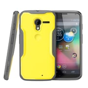 SUPCase Unicorn Beetle Hybrid Case For Motorola Moto X Phone, Yellow/Gray