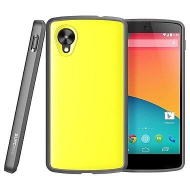 SUPCase Unicorn Beetle Premium Hybrid Protective Case For Google Nexus 5, Yellow/Gray