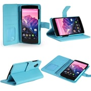 SUPCase Premium Wallet Leather Case For Google Nexus 5, Light Blue