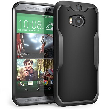 SUPCase Unicorn Beetle Premium Hybrid Protective Case For HTC One M8, Black/Black