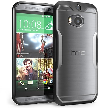 SUPCase Unicorn Beetle Premium Hybrid Protective Case For HTC One M8, Clear Black/Black