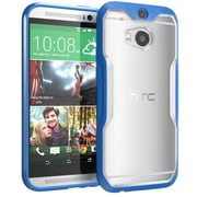 SUPCase Unicorn Beetle Premium Hybrid Protective Case For HTC One M8, Clear/Blue