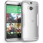 SUPCase Unicorn Beetle Premium Hybrid Protective Case For HTC One M8, Clear/Gray