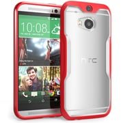 SUPCase Unicorn Beetle Premium Hybrid Protective Case For HTC One M8, Clear/Red
