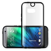 SUPCase Premium Hybrid Protective Bumper Case For HTC One M8, Black
