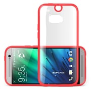 SUPCase Premium Hybrid Protective Bumper Case For HTC One M8, Red