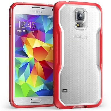 SUPCase Unicorn Beetle Premium Hybrid Protective Case For Samsung Galaxy S5, Clear/Red