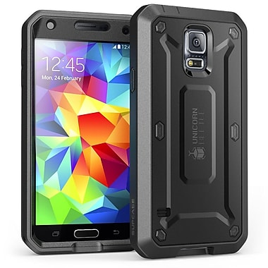 SUPCase Unicorn Beetle PRO Series Full body Hybrid Protective Case For Samsung Galaxy S5,Black/Black