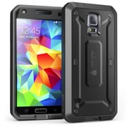 SUPCase Unicorn Beetle PRO Series Full body Hybrid Protective Case For Samsung Galaxy S5,Black/Black
