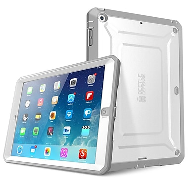 SUPCase SUP-PAD5-DEF-WH Polycarbonate/TPU Beetle Defense Protective Case for Apple iPad Air, White/Gray