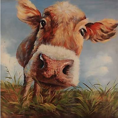 Hobbitholeco. Cow In Field by Tina O. Painting Print on Wrapped Canvas