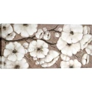 Hobbitholeco. White Blossoms by Tina O. Painting on Wrapped Canvas