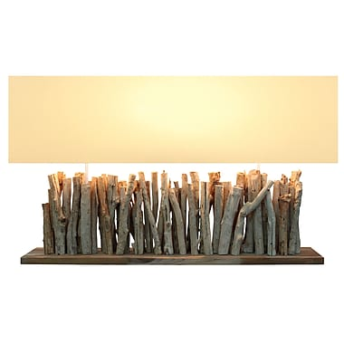 Bellini Modern Living Wide 26'' H Table Lamp with Rectangular Shade