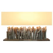 Bellini Modern Living 26'' H Wide Table Lamp with Rectangular Shade