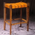 William Sheppee Old Glory City 32'' Bar Stool; Mustard
