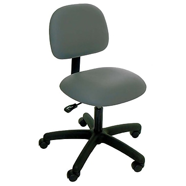 Industrial Seating Desk Height Office Chair; Blue