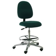 Industrial Seating Mid-Back Bench Height Office Chair; Black