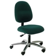 Industrial Seating Mid-Back Desk Height Office Chair; Green