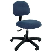 Industrial Seating Desk Height Office Chair; Black