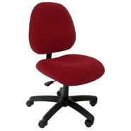 Industrial Seating High-Back Desk Height Office Chair; Burgundy