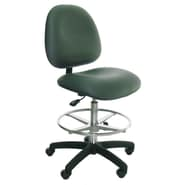 Industrial Seating High-Back Bench Height Office Chair; Navy
