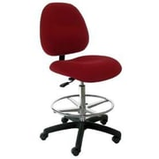 Industrial Seating High-Back Bench Height Office Chair; Burgundy