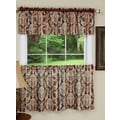 Achim Importing Co Damask 58'' Valance and Tier Set; 36'' H x 58'' W